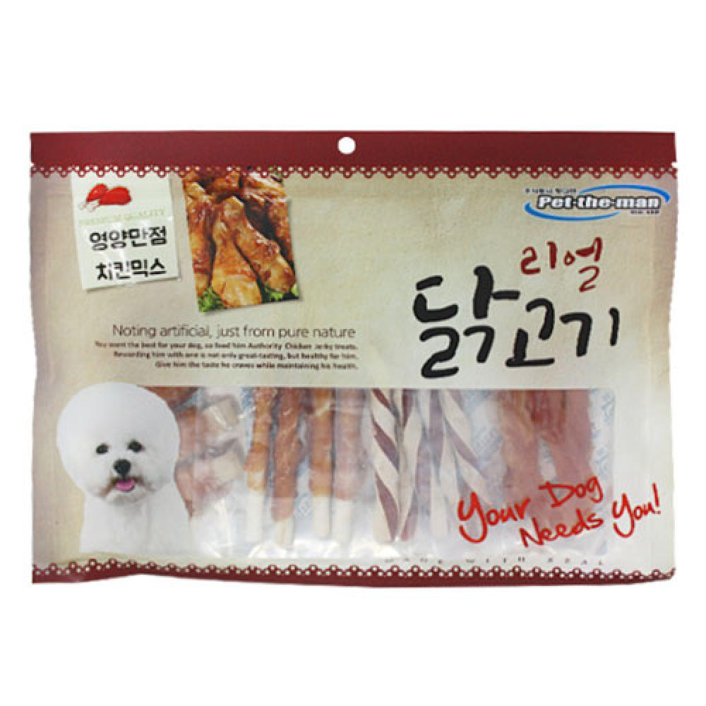 펫더맨 리얼닭고기(영양만점 치킨믹스) 300g