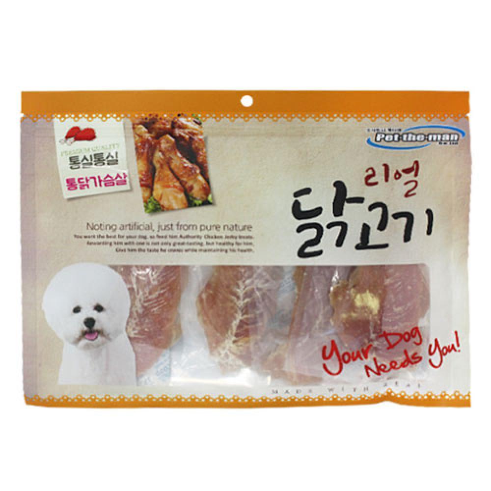 펫더맨 리얼닭고기(통실통실 통닭가슴살) 300g
