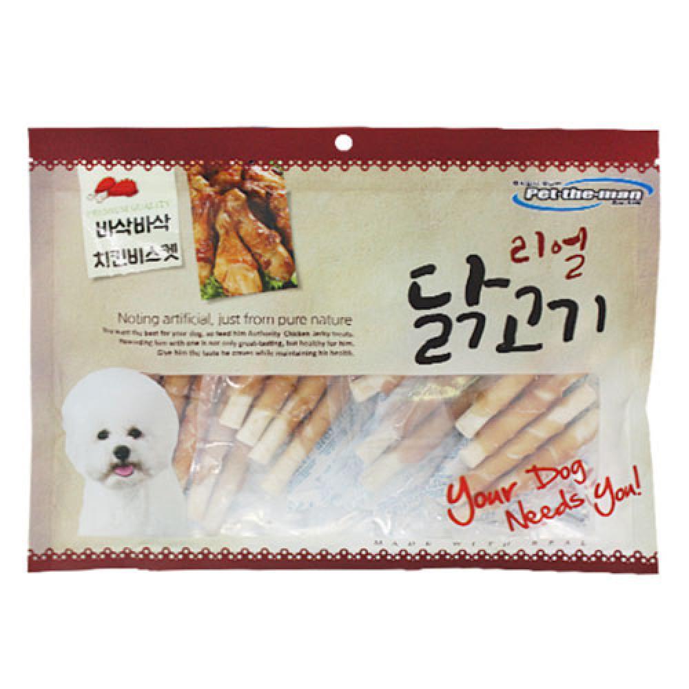 펫더맨 리얼닭고기(바삭바삭 치킨비스켓) 300g