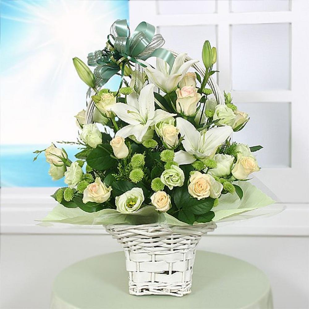 천사 꽃바구니 (중급) 기념일 꽃배달 꽃선물
