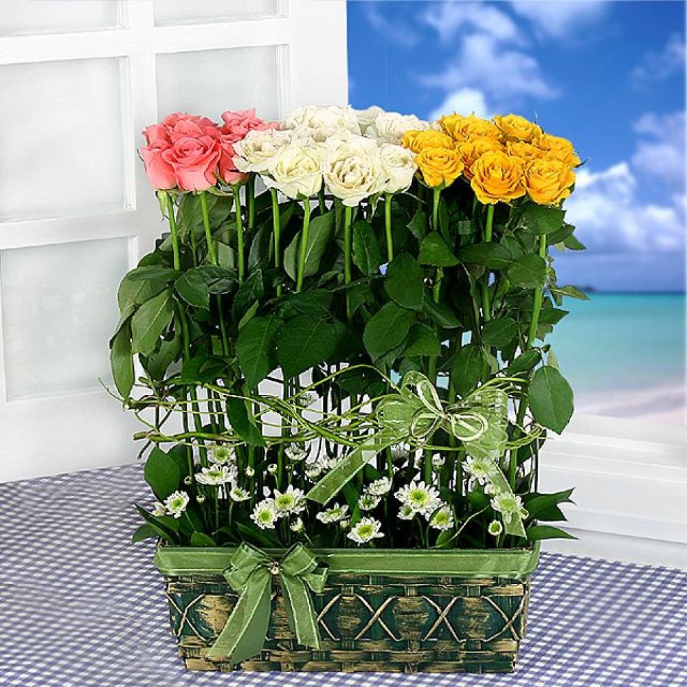 장미축제 꽃바구니 (대급) 기념일 꽃배달 꽃선물