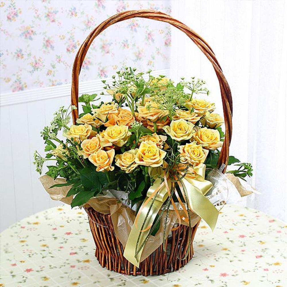 첫사랑 꽃바구니 (대급) 기념일 꽃배달 꽃선물
