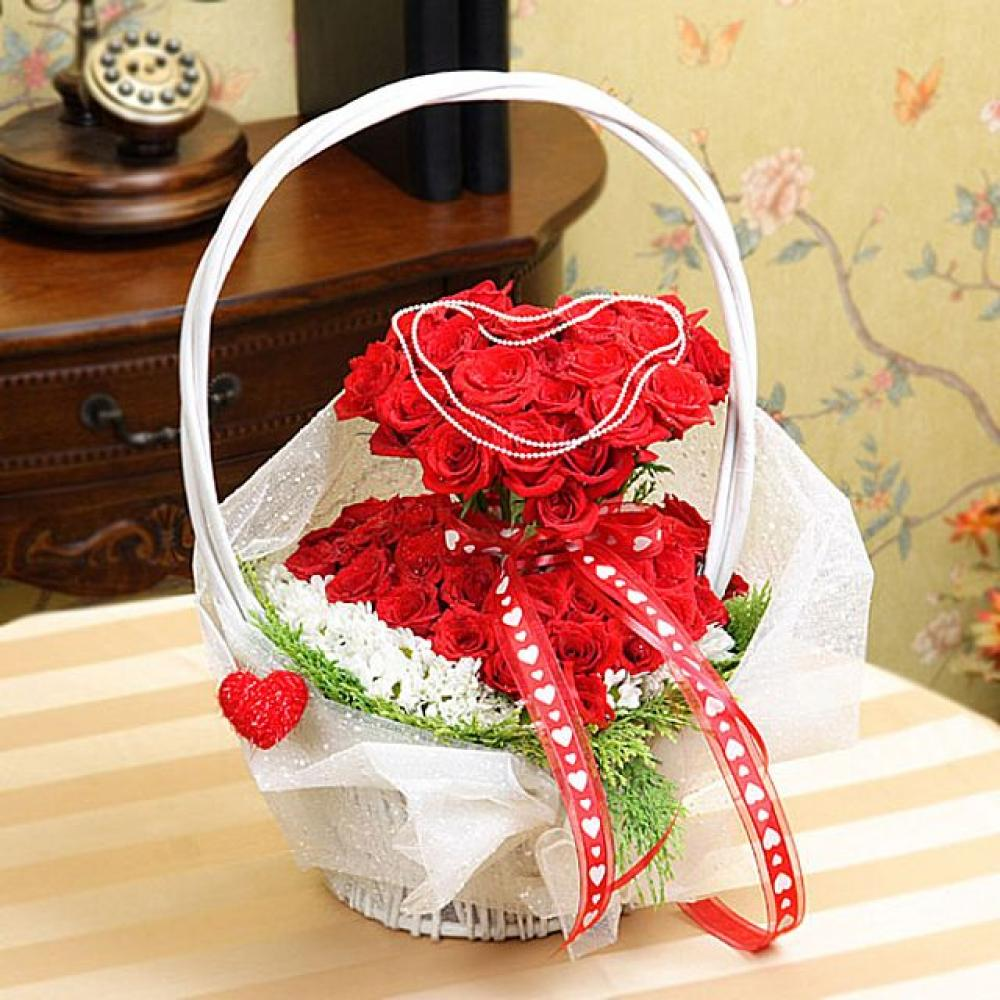 내안의그대 꽃바구니 (대급) 기념일 꽃배달 꽃선물