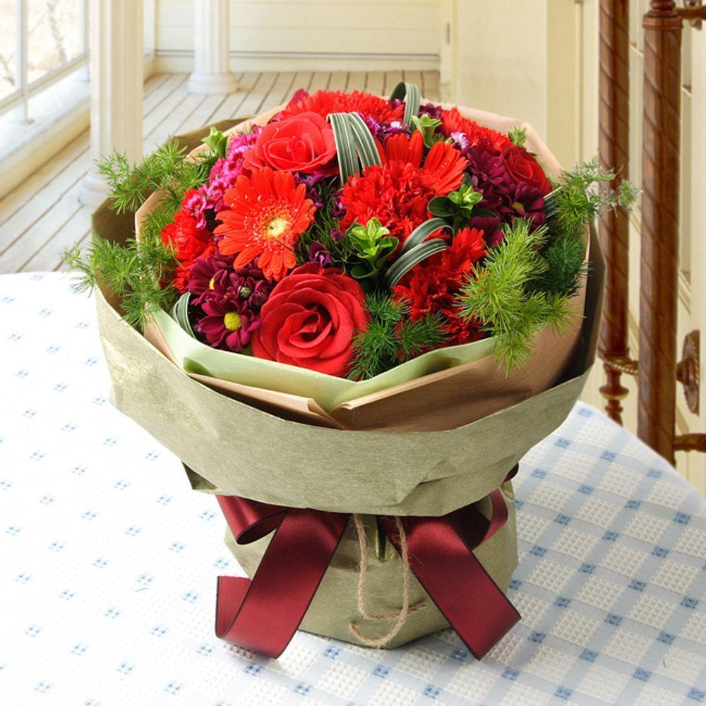 그리움 꽃다발 (중급) 카네이션 기념일 꽃배달 꽃선물