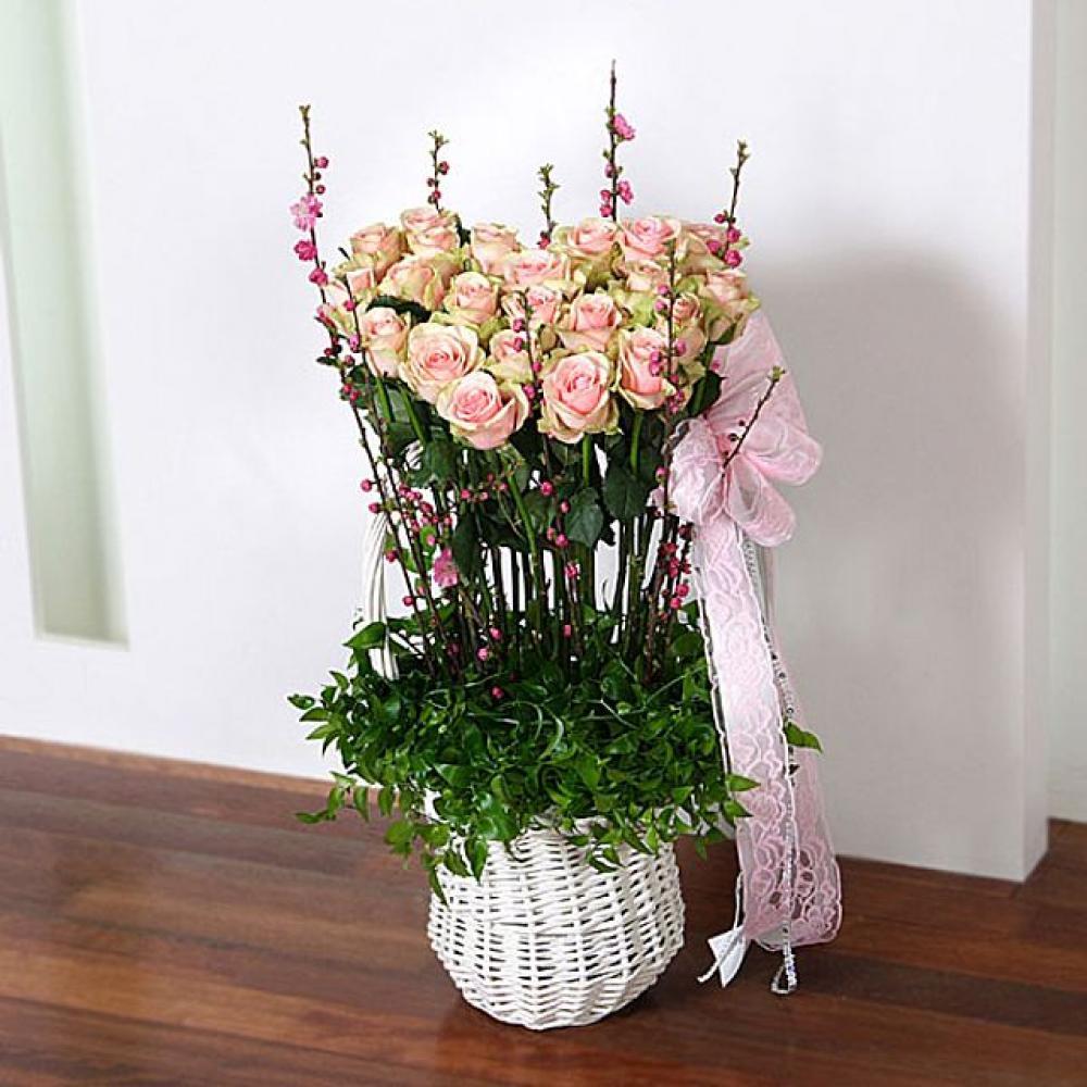 순정 꽃바구니 (대급) 기념일 꽃배달 꽃선물