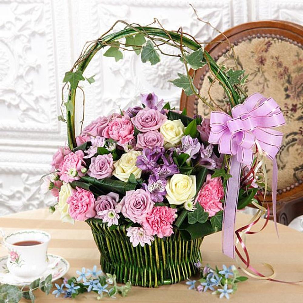 사랑의약속 꽃바구니 (대급) 기념일 꽃배달 꽃선물