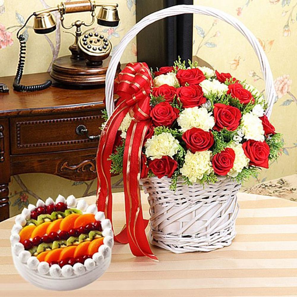 영원히함께 케이크 (대급) 기념일 꽃배달 꽃선물