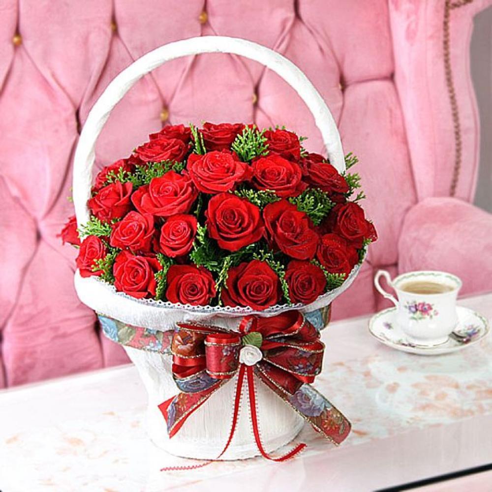 영원도록 꽃바구니 (중급) 기념일 꽃배달 꽃선물
