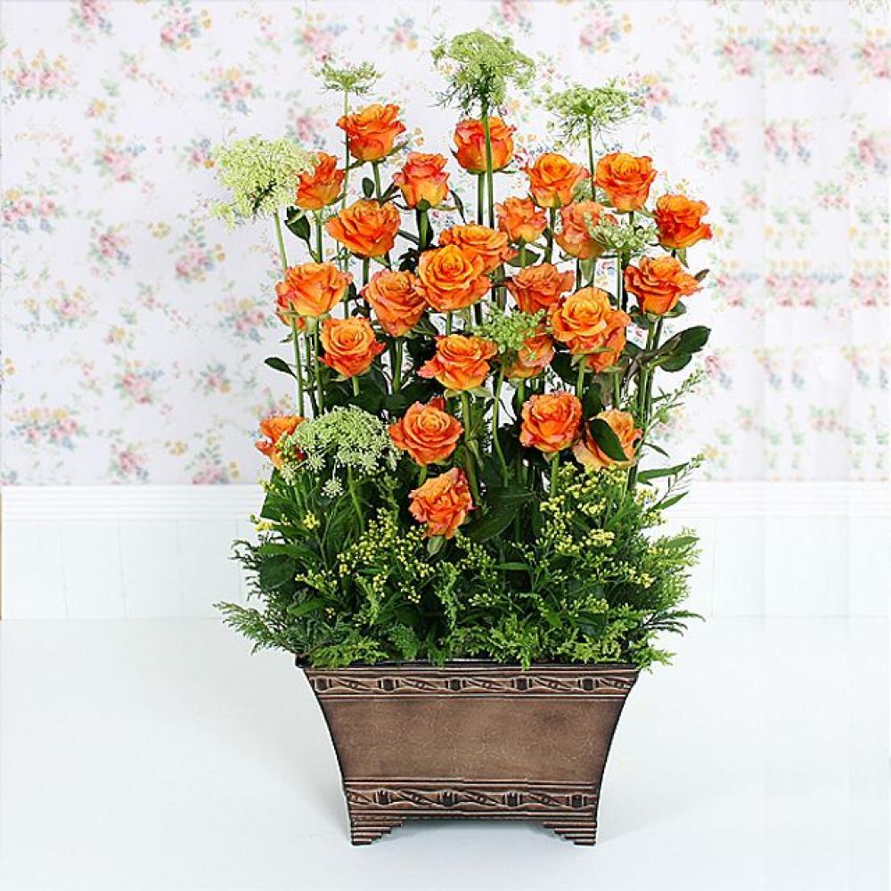 좋은사이 꽃바구니 (대급) 기념일 꽃배달 꽃선물