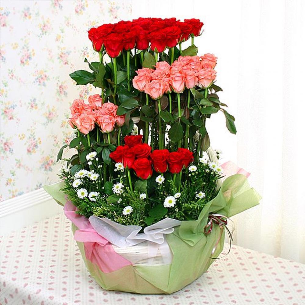 기쁜날 꽃바구니 (대급) 기념일 꽃배달 꽃선물