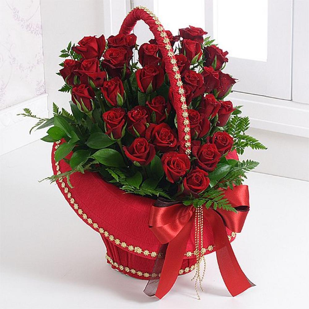 사랑과열정 꽃바구니 (중급) 기념일 꽃배달 꽃선물