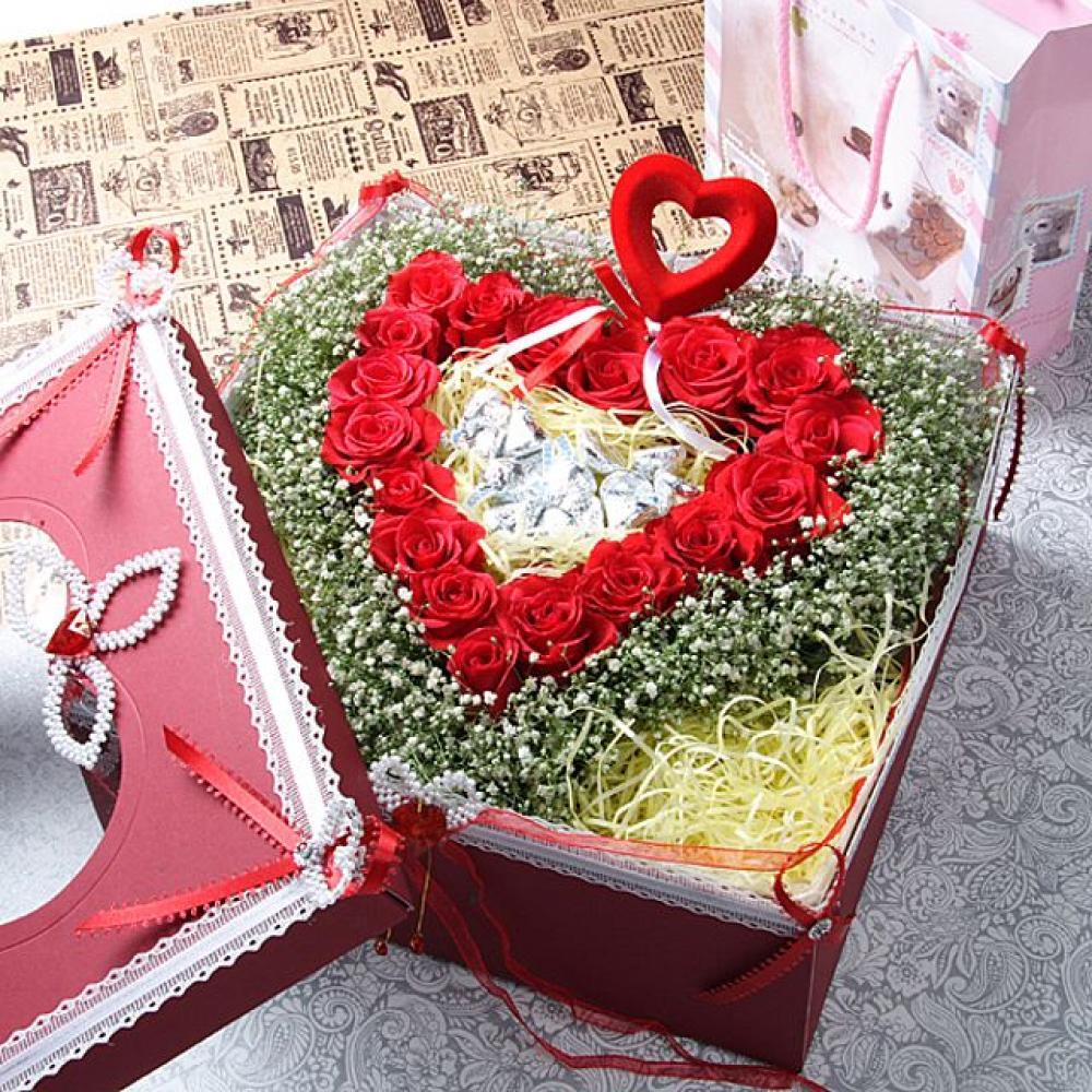 항상그대를 꽃상자 (중급) 기념일 꽃배달 꽃선물
