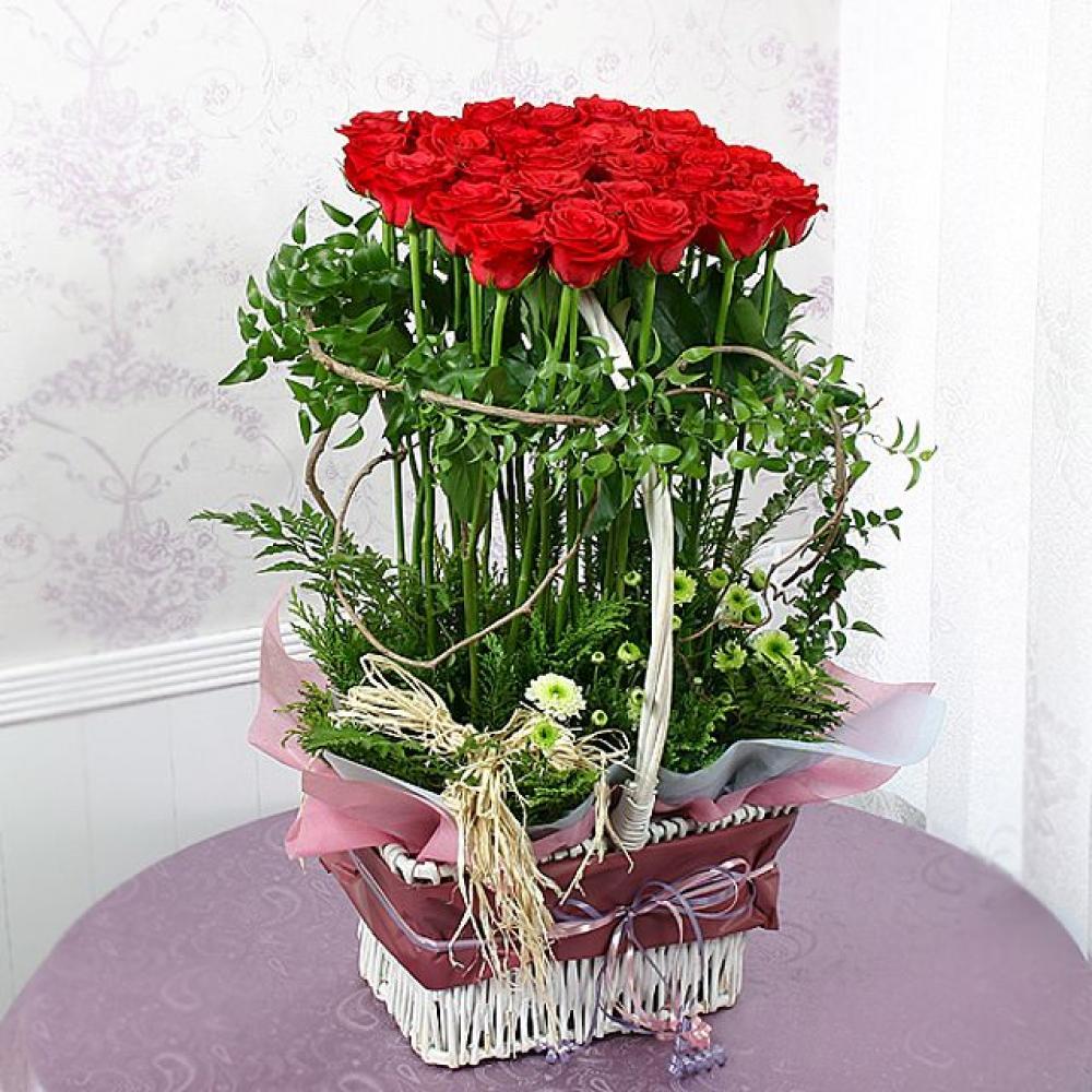 보고싶다 꽃바구니 (대급) 기념일 꽃배달 꽃선물