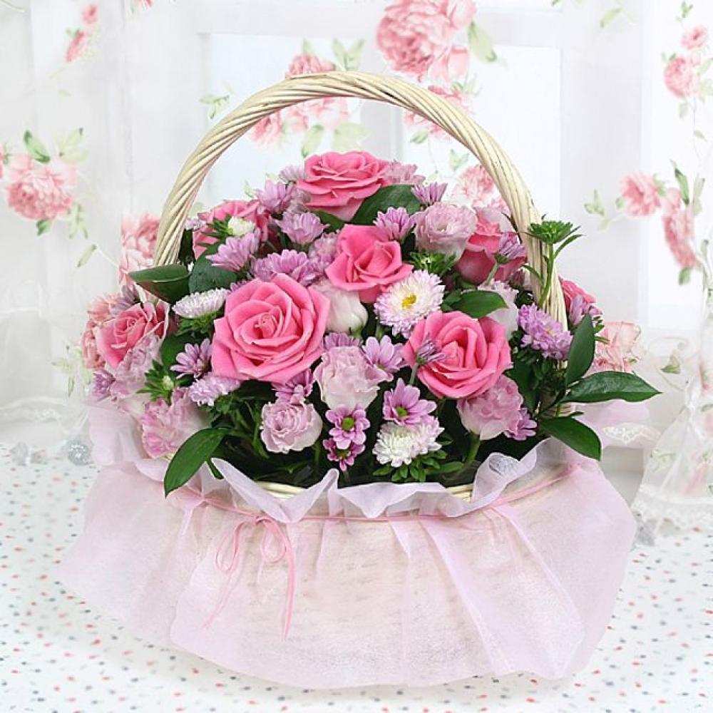 나의허니 꽃바구니 (대급) 기념일 꽃배달 꽃선물