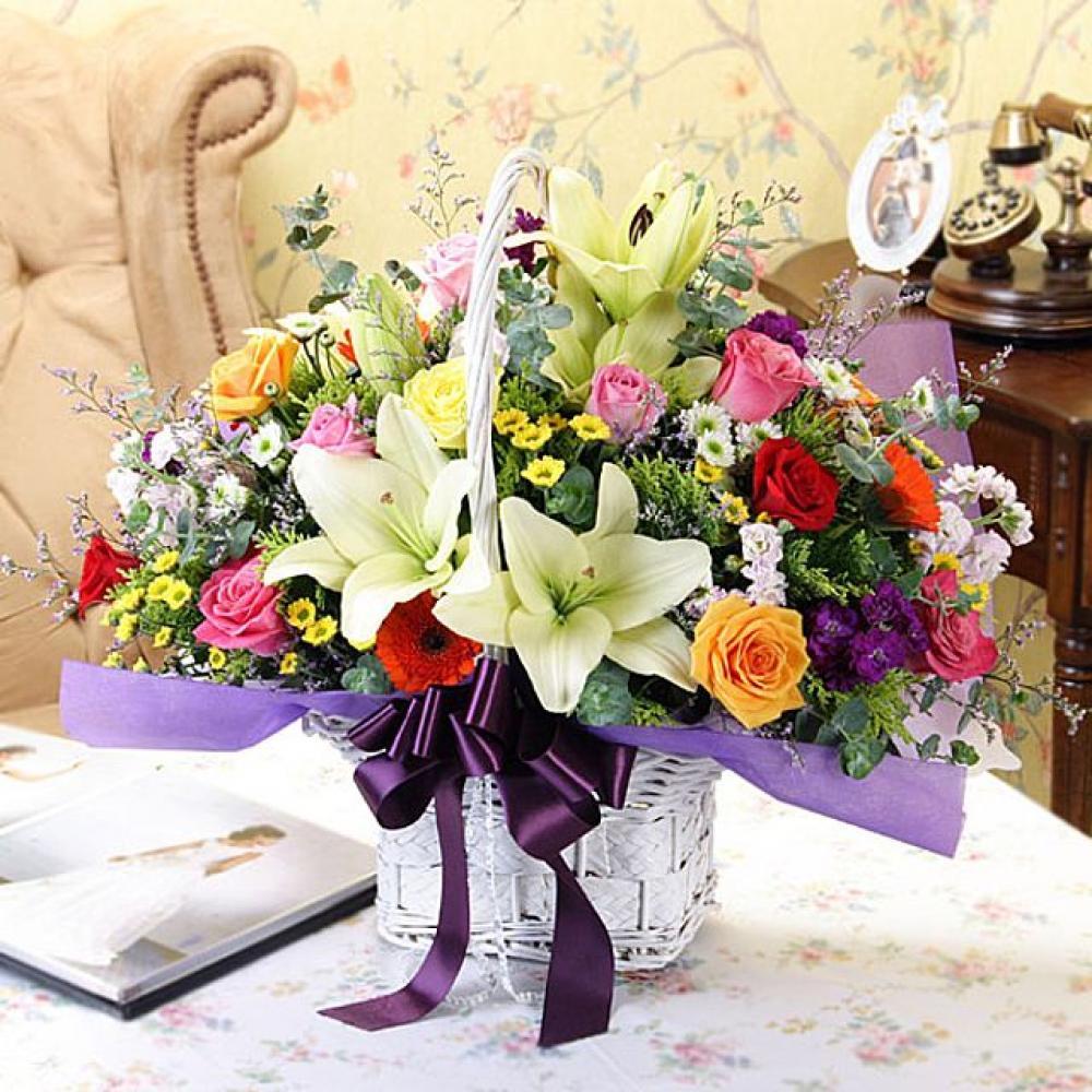 우린친구 꽃바구니 (중급) 기념일 꽃배달 꽃선물