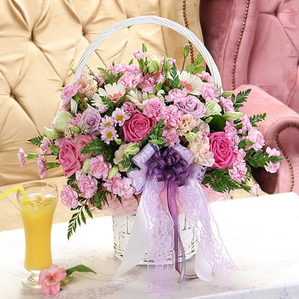 너를닮은 꽃바구니 (대급) 기념일 꽃배달 꽃선물
