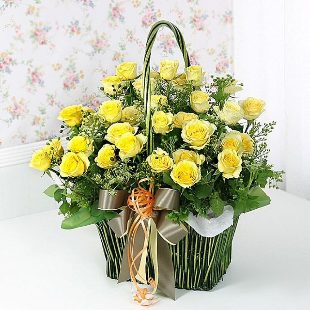 연인으로 꽃바구니 (중급) 기념일 꽃배달 꽃선물