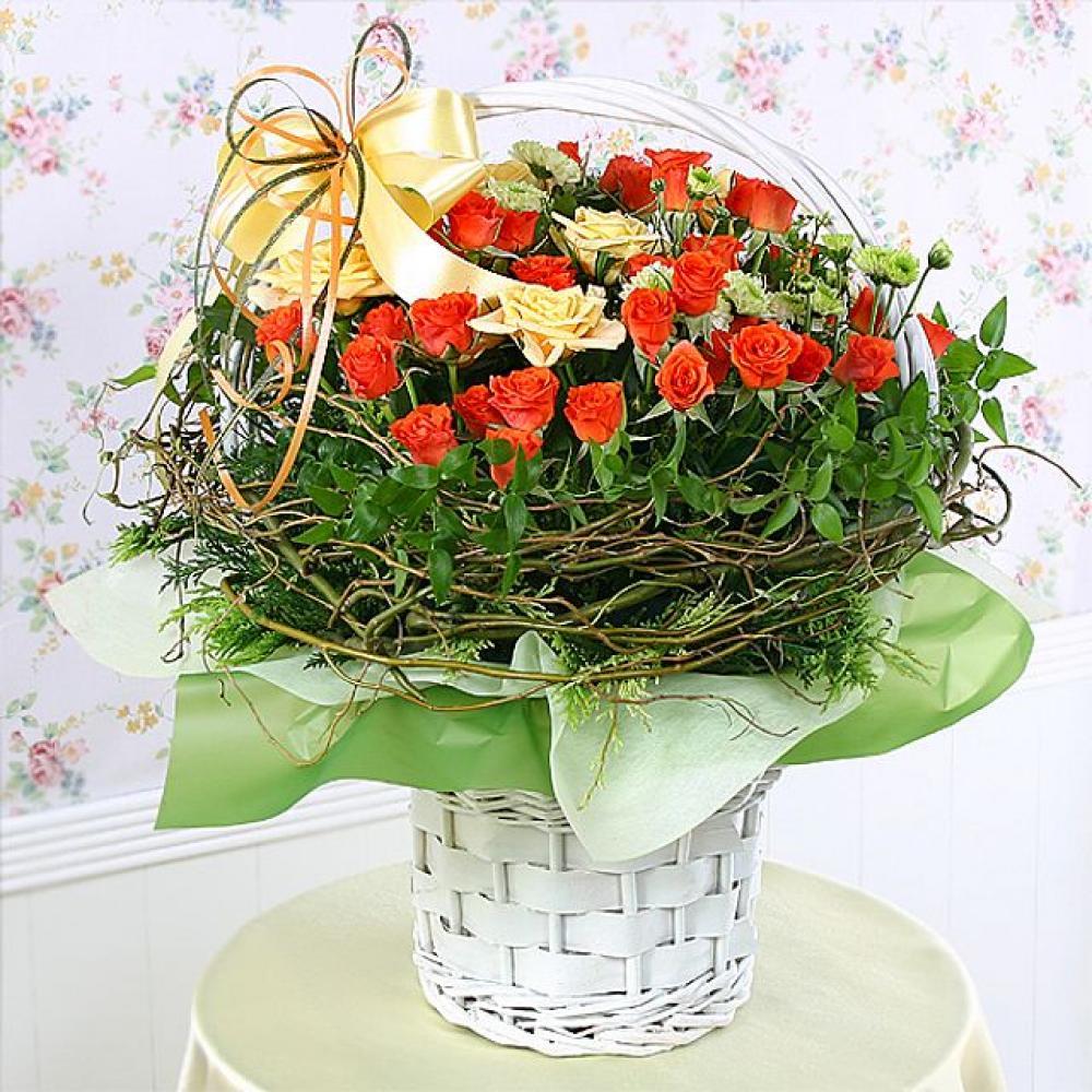 그리움 꽃바구니 (대급) 기념일 꽃배달 꽃선물