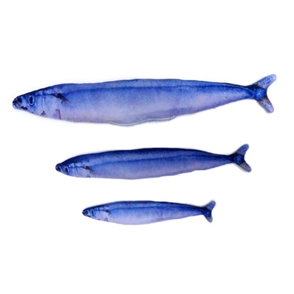 우쭈쭈 캣닢 물고기 장난감 꽁치 (S) 20cm