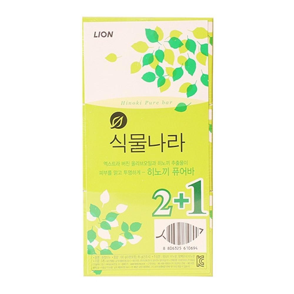 LION식물나라비누(히노끼2 plus 1입)