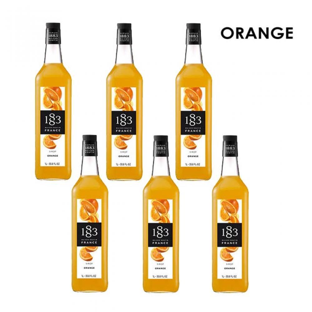 음료 주스 칵테일 오렌지 시럽 1000ml 6개